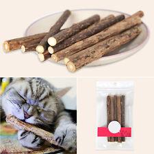 5stk Pet Cat Stick Zahngesundheit Kitten natürliche Katzenminze Stick Chew Toy