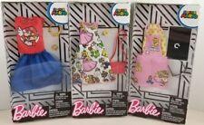Barbie 3 PC. Super Mario Bros Barbie Doll Fashion Pack  Lot Nintendo