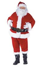 Complete Velour Santa Claus Suit Adult Costume, Standard(40-48)