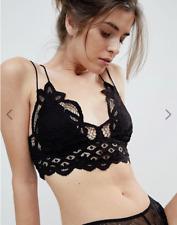 aec3beab3a9e0 People Adella Lace Bralette Bra in Black 36 - Size Medium