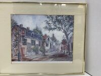 Colonial Williamsburg Print Signed Lucretia Restrepo Numbered Framed Watercolor