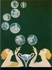 "ORIGINALE VINTAGE Erte Art Deco Print ""BOLLE"" LIBRO ARTE Piastra"