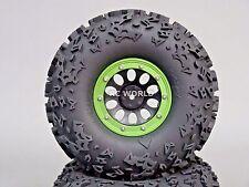 2.2  Truck Rims Wheels Rock CRAWLER  Beadlock Wheels  -Set Of 4- GREEN