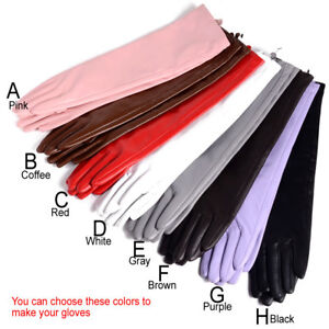 40cm-80cm Women's Real leather Overlength Party Evening gloves opera/long gloves