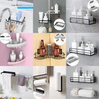 Bathroom Shelf Shower Pole Storage Rack Organiser Tray Holder Accessorys