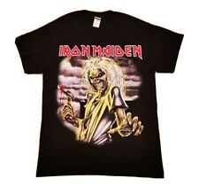 Iron Maiden Killers Black T-Shirt Eddie Double Sided Graphic Print Medium