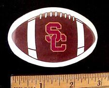"VINTAGE USC TROJANS ""SC"" FOOTBALL SHAPED 2 3/4"" x 1 3/4"" PINBACK BUTTON"