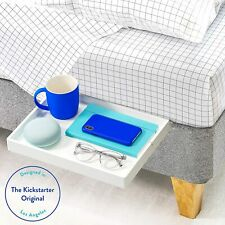 BedShelfie The Original Bedside Shelf - Slide, White + FREE FAST DELIVERY
