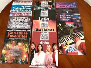 14 keyboard/Clavinova lead sheet books for the beginner or intermediate player