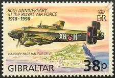 RAF Handley Page HALIFAX GR.VI WWII Bomber Aircraft Stamp (1998 Gibraltar)