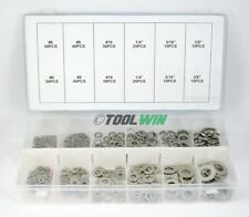 350 pc Stainless Steel Lock & Flat Washer Assortment Nuts Bolt