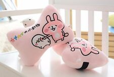 2pcs Cute Pink Rabbit Animal  Auto Car Neck Rest Cushion Headrest Pillow