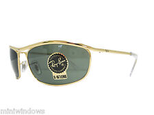 RAY BAN SUNGLASSESS Olympian RB3119 001 Gold / Crystal Green 62mm NEW AUTHENTIC