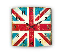 ZEP GP87 BRITISH OROLOGIO PARETE VINTAGE GLASS WALL ART CLOCK 34X34