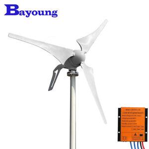 Home 600W Wind Turbine Generator Kits 12V 24V Horizontal MPPT Charge Controller
