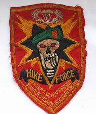 original Vietnam American war  mike force  green beret  cloth patch