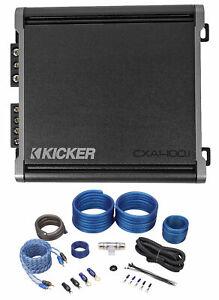 KICKER 46CXA4001T CXA400.1 400 Watt Mono Class D Car Audio Amplifier+Amp Kit