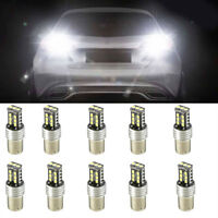 10Pcs 1156 P21W BA15S 2835 15LED Canbus Car Reverse Backup Tail Light Bulb White