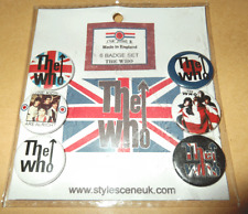 The Who 25mm Button Badge Set