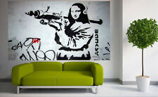 300cm by160cm GRAFFITI PAINTING  BANKSY MONA LISA STREET ART large  contemporary