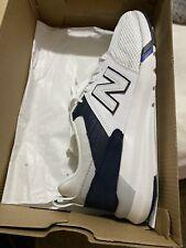 New Balance Men's 009 White/Navy Sneakers (Size 8)
