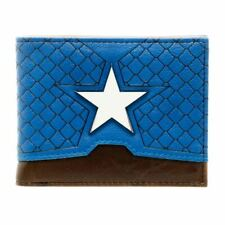 Marvel Captain America Suit Up Bi-fold Wallet with Metal Badge - Avengers