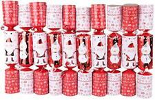 Pack Of 10 Snowman & Santa Christmas Crackers (ES421)