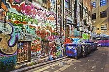 new york graffiti street banksy painting print art  wall decor