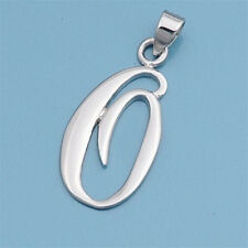 Alphabet Initial Pendant Sterling Silver 925 Rhodium Plated Jewelry Letter O
