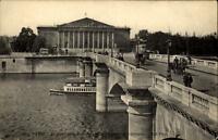 Paris CPA ~1910/20 Le Pont de la Concorde Chambre des Députés Brücke Seine Boot