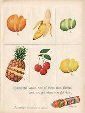1948 Lifesavers PRINT AD Colorful Fruit fun children's kids or kitchen decor