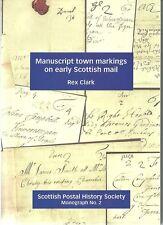 2012 Nouveau Livre manuscrit ville marquages sur le mail écossais-Rex Clark 150 P