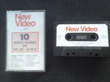 New Video nunmero 1 x Commodore VIC 20 e Spectrum CASSETTA originale 10 giochi