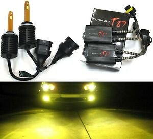 LED M10 Canceler 881 3000K Yellow Two Bulb Fog Light Upgrade Replacement Lamp EO