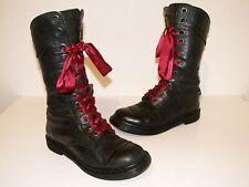 Dr. Martens 1914 TRIUMPH dark mirage leather boots UK 7 EU 41 US 9 (doc74)