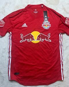 Sz L Adidas MLS New York Red Bulls RED Soccer Jersey 2018  NWT $120