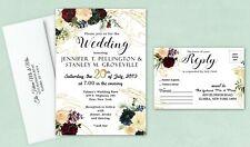 Personalized Wedding Invitations Gold Red Set of 50 Invites Bridal Shower Custom