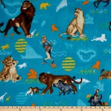 Lion King Blue Badges cotton print by Springs Creative Bty