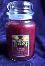 New Yankee Candle ~ Christmas in the Air ~ Large Jar Holiday Festive Red Rare