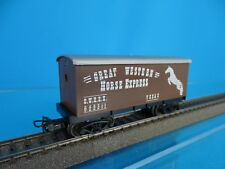 Marklin US Four axled Freight car Great Western Horse Express Brown