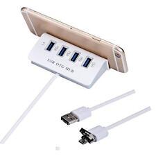 USB OTG 2 In 1 USB 2.0 4 Port Power LED Hub for PC Laptop tablet Phone Stand