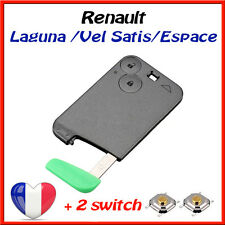 Coque Carte Cle Télécommande Renault Laguna Vel Satis Espace 2 boutons +2 switch