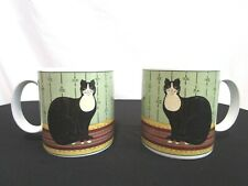 Set of 2 Cat Collection 12 oz Coffee Mugs Warren Kimble Sakura Oneida