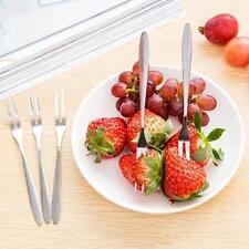 5PCS Exquisite Stainless Steel Dessert Fork Kitchen Snacks Cake Fruit Salad  K
