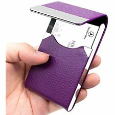 Padike Pu Leather Business Card Holder For Women Slim Pocket Name Stainless Case