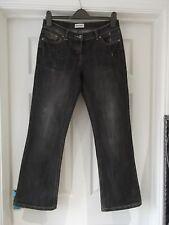 TOP donna Taglia 10 CALIFORNIA ANTRACITE MK Jeans Bootcut Denim Casual 29 Gamba