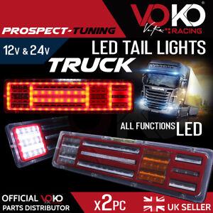 NEW TRUCK LED 12V 24V Rear Tail Lights FULL LED LAMPS UK brake reverse VKZI15
