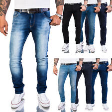 Rock Creek Herren Jeans Hose Slim Fit Stretch Herrenjeans Basic M46 W29-W40 NEU