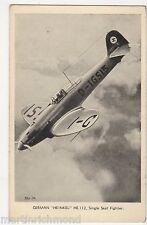 German Heinkel H.E.112 Single Seater Fighter Postcard #2, B550