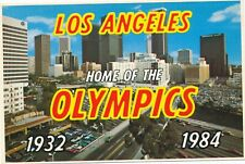 1984 Olympic Games Los Angeles, original postcard.